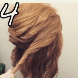 ツイストで作る☆華やかなまとめ髪4