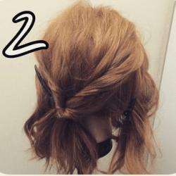 ツイストで作る☆華やかなまとめ髪2