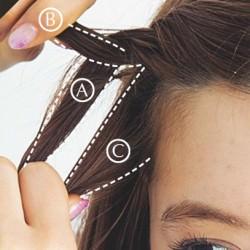 基本のツイストヘア♪2