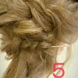 ショート~ミディアムヘアにオススメのロープ編みアレンジ5