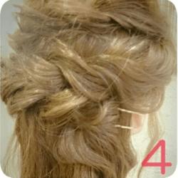 ショート~ミディアムヘアにオススメのロープ編みアレンジ4