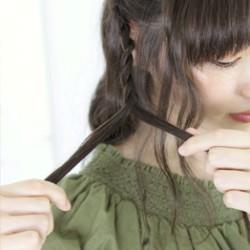 ダウンスタイルが可愛いロープ編みスタイル3