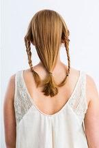 フィッシュボーンを加えたギブソンタックでまとめ髪5