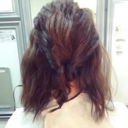 伸ばしかけの髪で出来る☆爽やかシニヨンヘア2