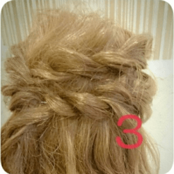 ショート~ミディアムヘアにオススメのロープ編みアレンジ3