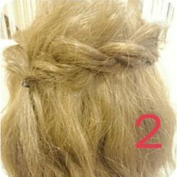 ショート~ミディアムヘアにオススメのロープ編みアレンジ2