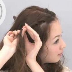 簡単!ツイスト前髪のやり方☆3