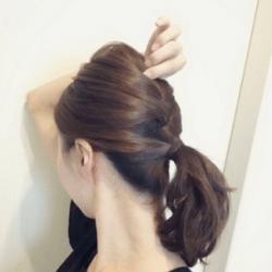 編み込み風こなれシニヨンヘア♡7