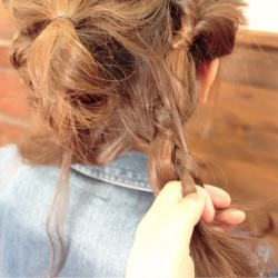 くるりんぱの応用編!ロングヘアーのまとめ髪アレンジ4