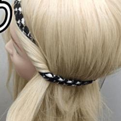 カチュームを使ったカジュアル&ルーズなアップヘア☆2
