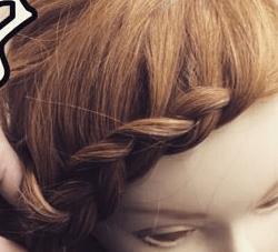前髪編み込みヘア3