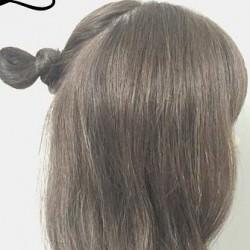 春は軽やかヘアが可愛い!上品で可愛いお団子ハーフアップ2