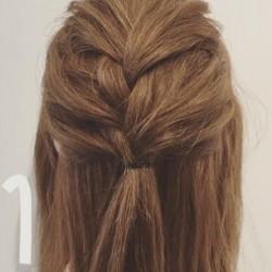 簡単編み込みアレンジ☆まとめ髪の作り方1