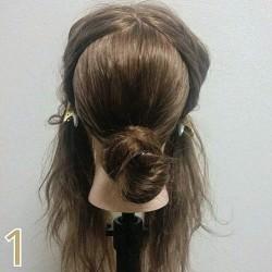 結婚式で大活躍☆お団子で作るまとめ髪ヘアアレンジ1