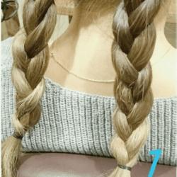 3分でできる、お出かけ三つ編みアップスタイル1