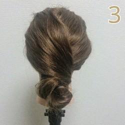 結婚式で大活躍☆お団子で作るまとめ髪ヘアアレンジ3