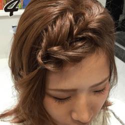 無造作ふわくしゃ編み込み風前髪4