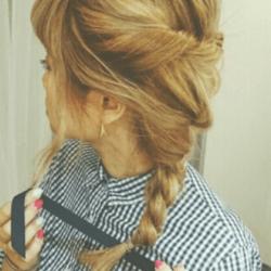 深田恭子みたいに色っぽく♪編み込みヘア5