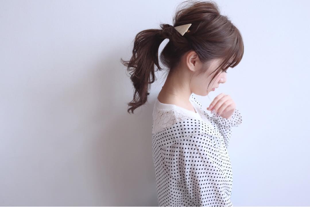 アレンジと言えばポニーテール!超簡単なポニーテールのおすすめヘアスタイル☆1