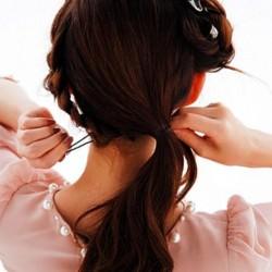 サイド三つ編みで平愛梨みたいな令嬢ヘアに♥4