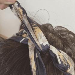 ターバンをプラスして今っぽく♡ 編み込みシニヨン6
