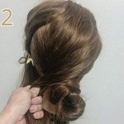 結婚式で大活躍☆お団子で作るまとめ髪ヘアアレンジ2