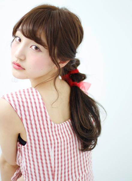 超簡単なポニーテールのおすすめヘアスタイル☆9