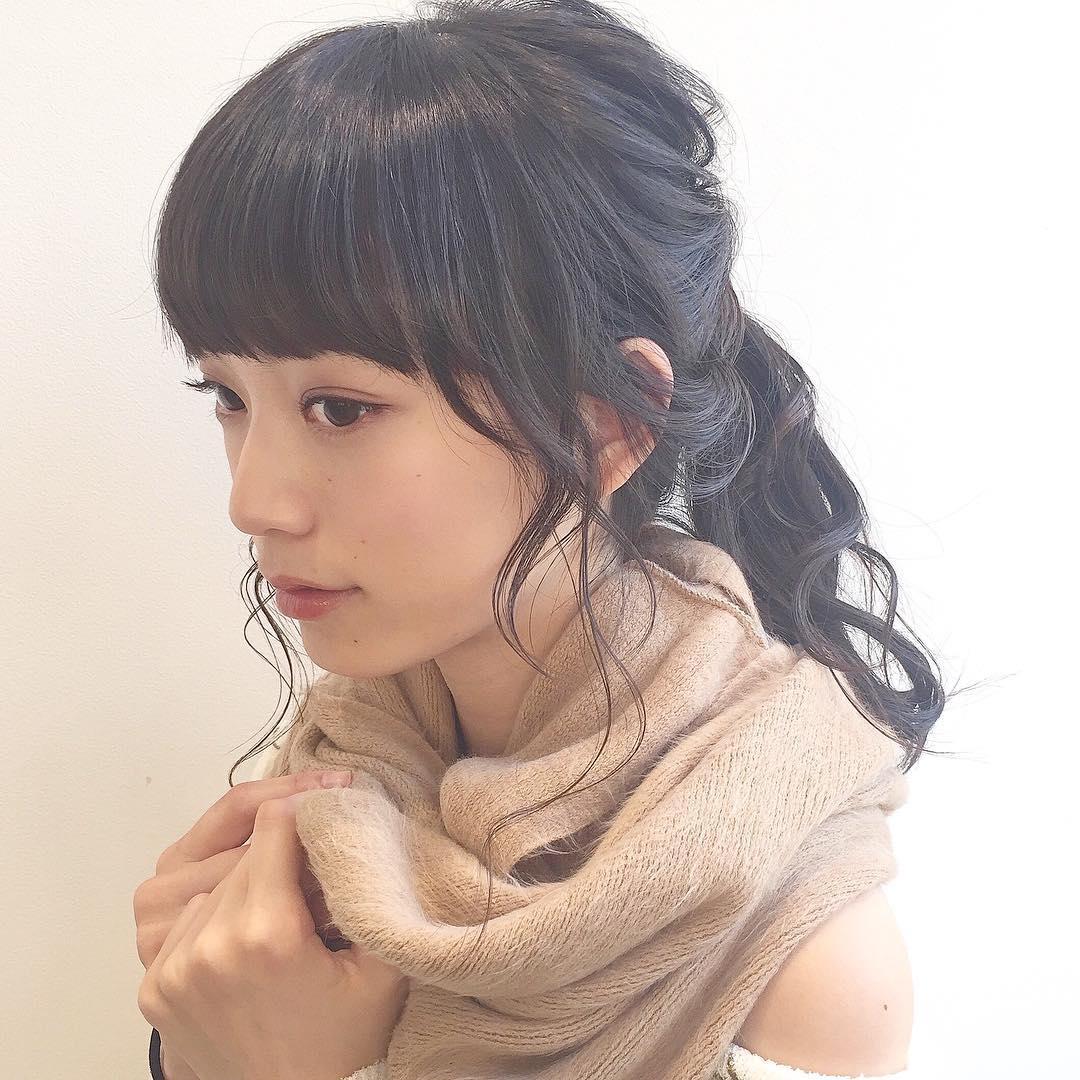アレンジと言えばポニーテール!超簡単なポニーテールおすすめヘアスタイル☆9