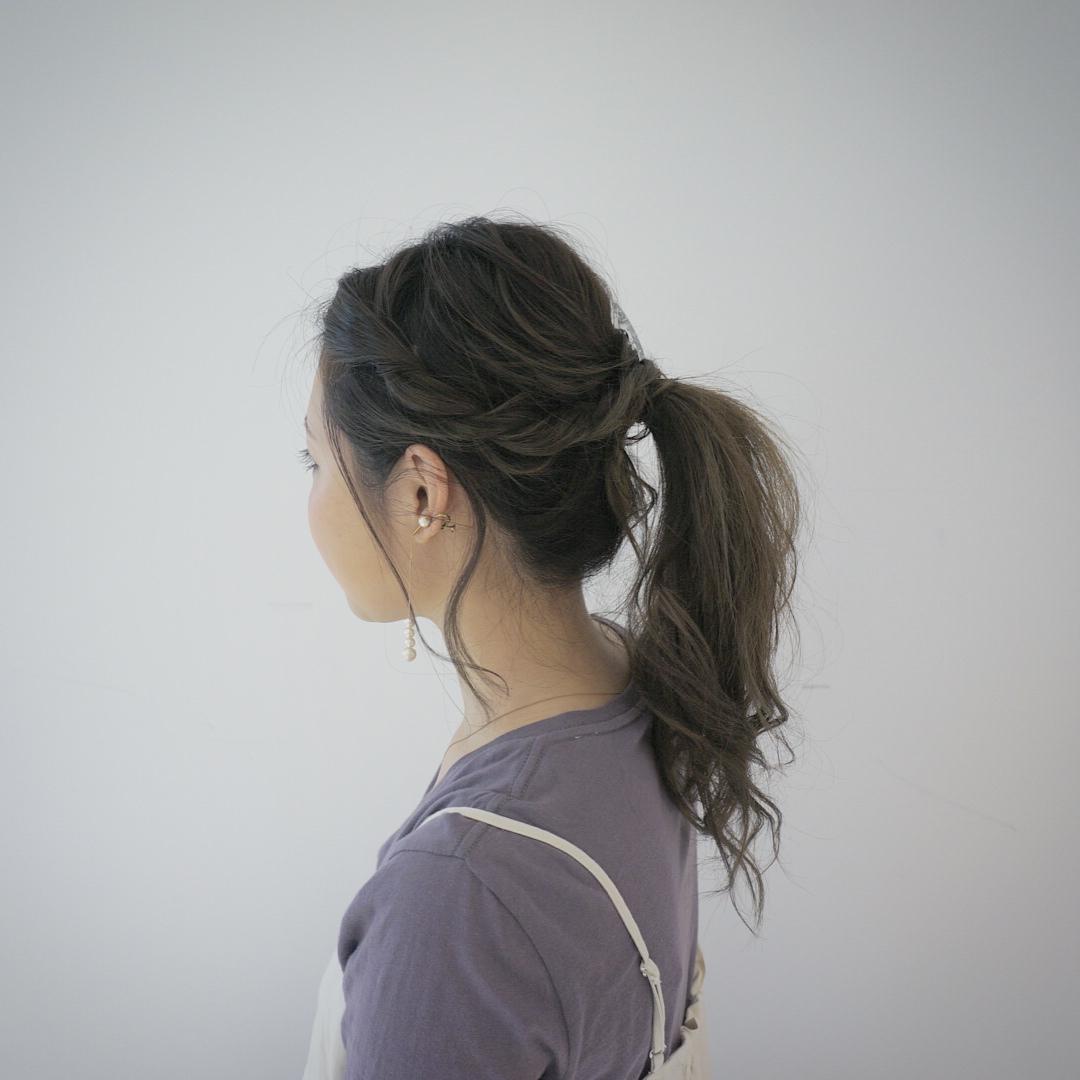 パールピアスに似合うヘアスタイル5