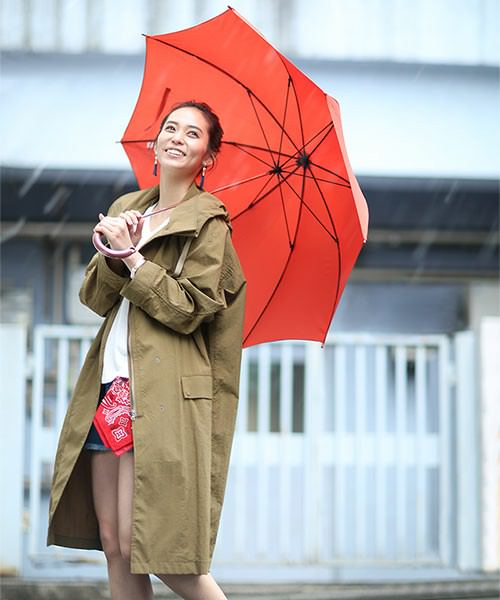 雨の日×編み込み