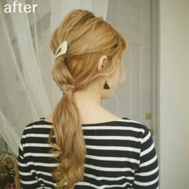シャンパンカラーのアイシャドウに似合うヘアスタイル髪1