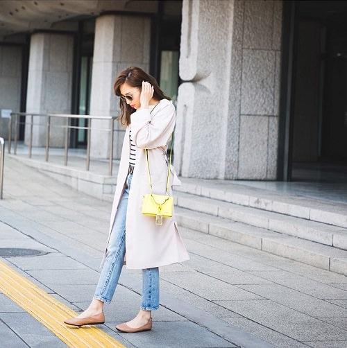 ぺたんこ靴に似合うヘアスタイル4