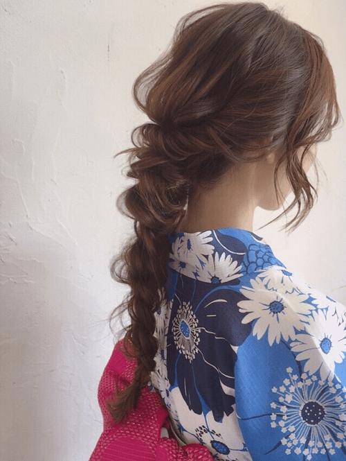 【浴衣に似合うヘアスタイル・髪型】花火大会やお祭りにピッタリ!4