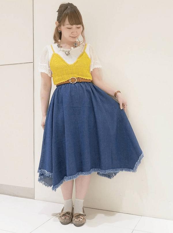 イレヘムスカートに似合うヘアスタイル4