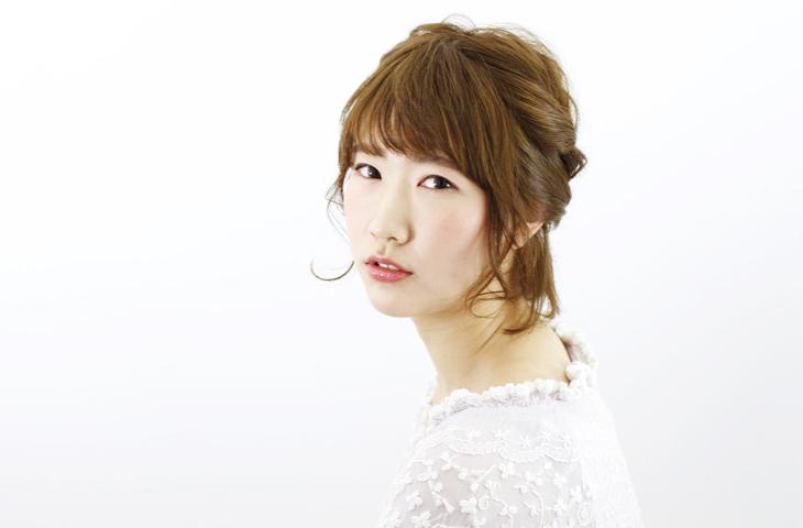 フラワーピアスに似合うヘアスタイル髪5