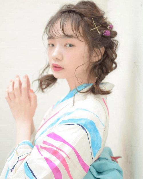 【浴衣に似合うヘアスタイル・髪型】花火大会やお祭りにピッタリ!3