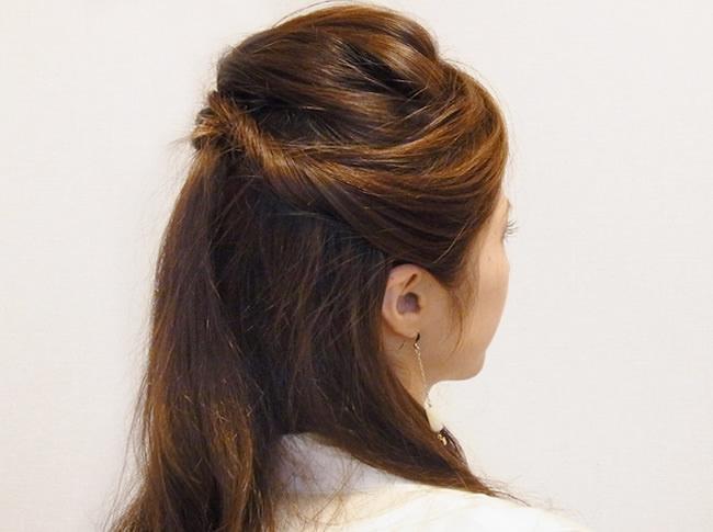 浴衣のカラー別におすすめなヘアスタイル髪 ブラック