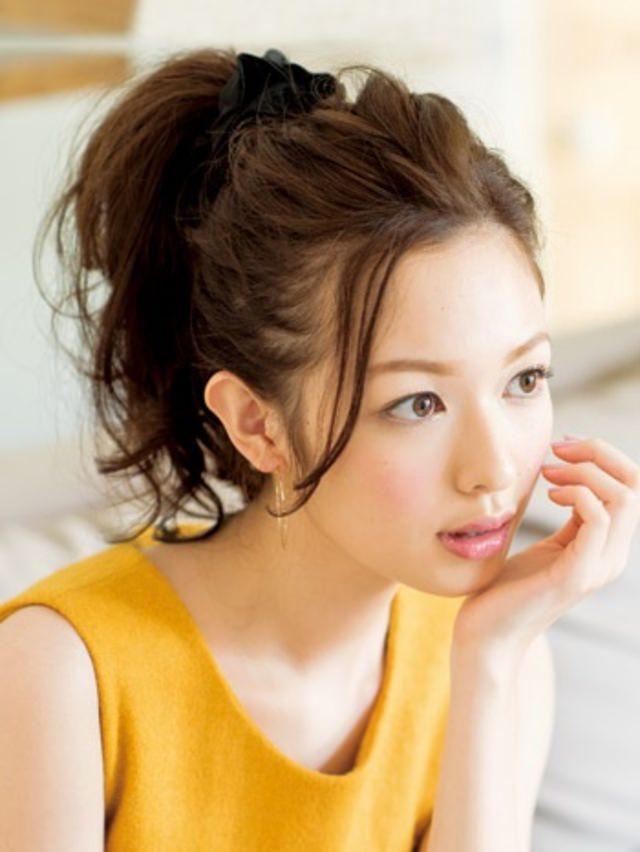 小顔効果のあるヘアスタイル5-5