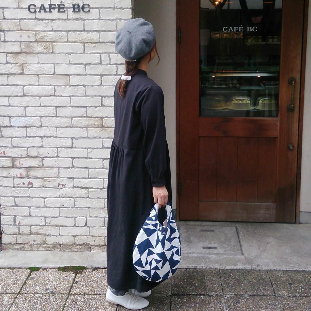 ベレー帽×三つ編み
