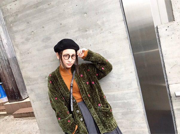 川栄李奈×ベレー帽