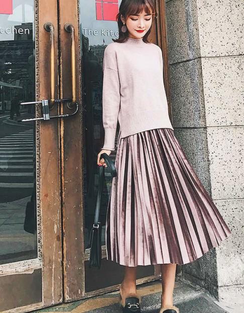 プリーツスカートに似合うヘアスタイル