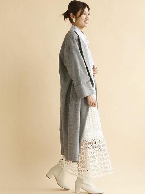 ロングコートに合うヘアスタイル1