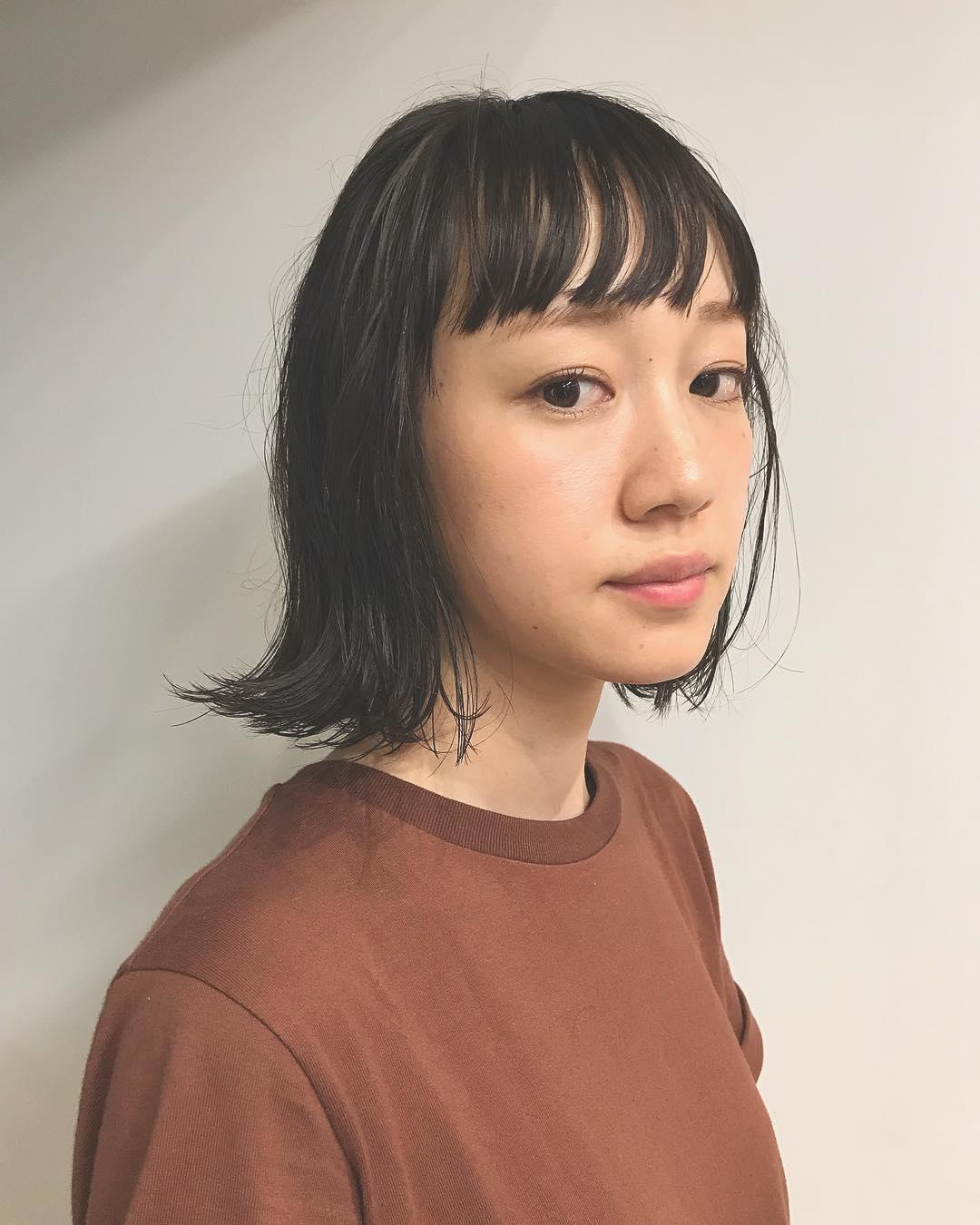 前髪ぱっつんが可愛い♡とことん似合うヘアスタイル3