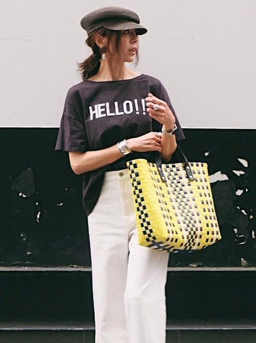 夏本番☆ロゴTシャツに合うヘアスタイル3