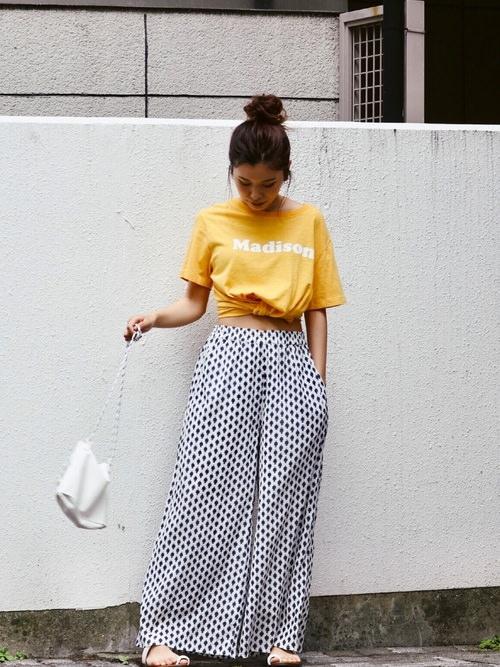夏本番☆ロゴTシャツに合うヘアスタイル2