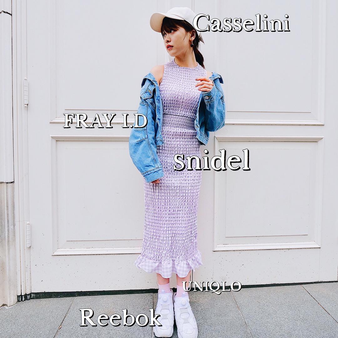 ラベンダーカラーの洋服に似合うヘアスタイル3