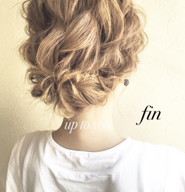 質感が可愛い♡上品なまとめ髪
