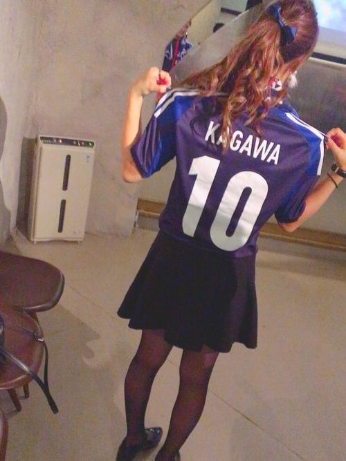 サッカー観戦にピッタリのヘアスタイル☆5