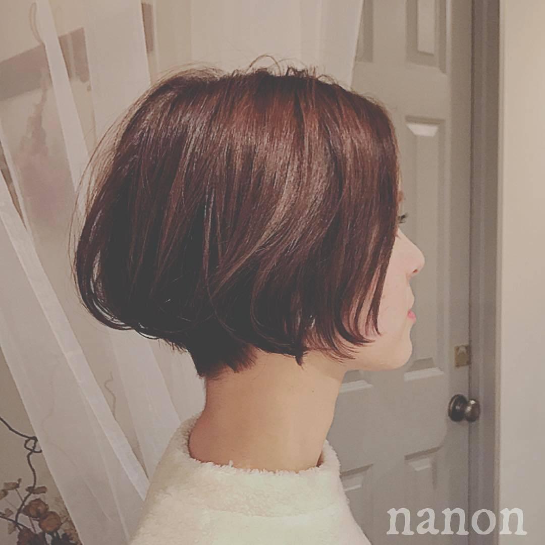 ショートヘア×濡れ髪