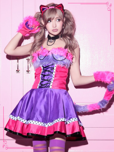 女子に大人気☆ハロウィンの猫コスに合うヘアアレンジ2